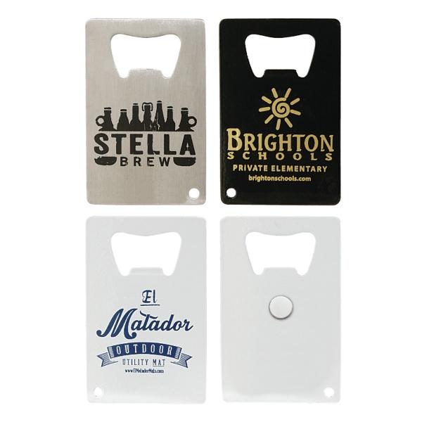 Credit Card Bottle Opener w/ Magnet