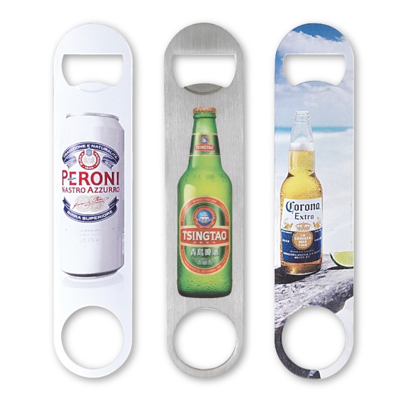Paddle Style 4 Color Process Bottle Opener