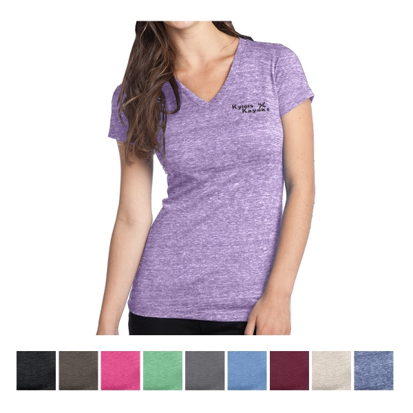 District Juniors' Tri-Blend V-Neck Tee