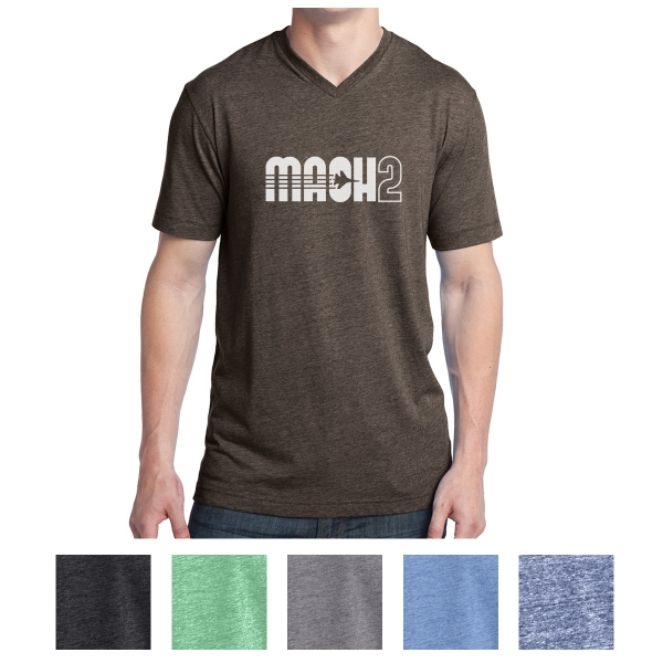 District Young Men's Tri-Blend V-Neck Tee