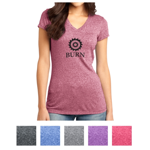 District Juniors' Microburn V-Neck Tee