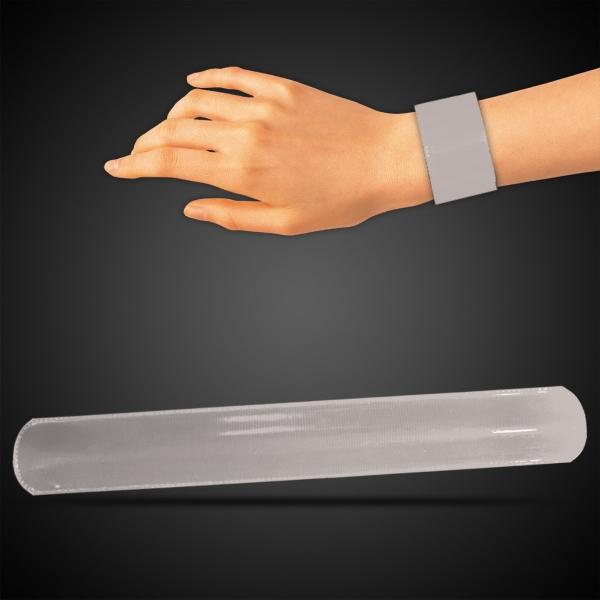 "Silver 8 3/4\"" Slap Bracelet"