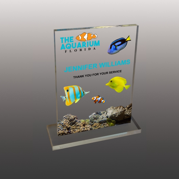 Custom Ultra Vivid Color Acrylic Awards