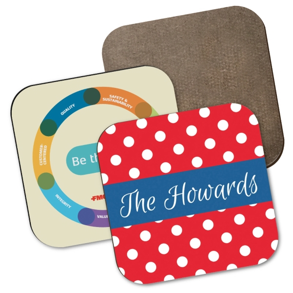 Hardboard Square Coaster w/Full Color Sublimation