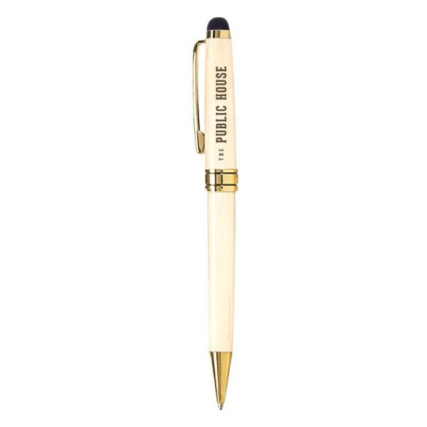 Milano Blanc Stylus Maplewood Ballpoint Pen