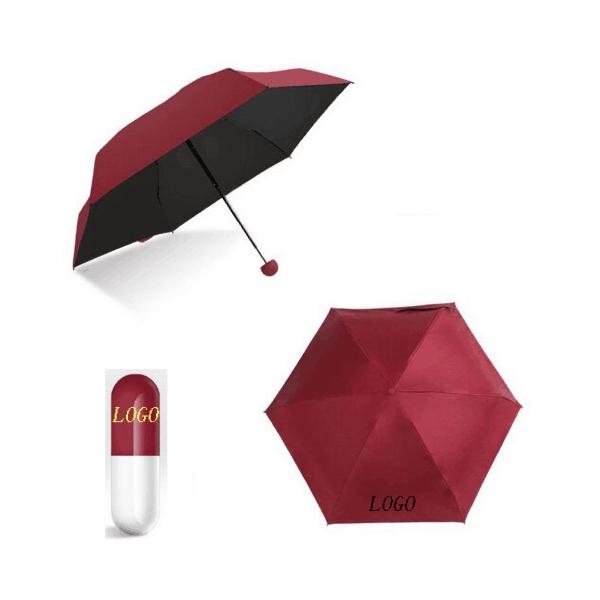 Capsule Folding Sun-Rain Umbrella