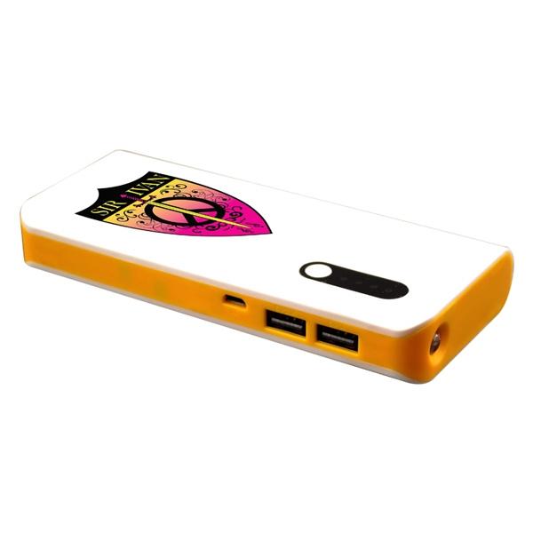 13000mAh Backup Charger with Dual USB Charging Ports, LED Fl