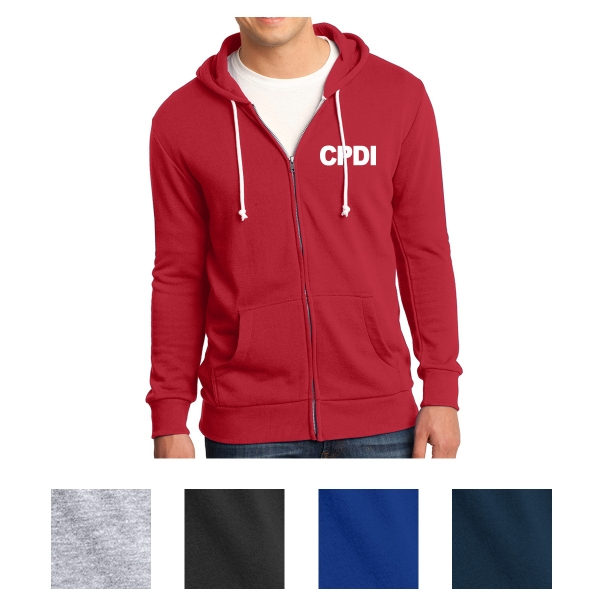 District Young Men's Core Fleece Full-Zip Hoodie