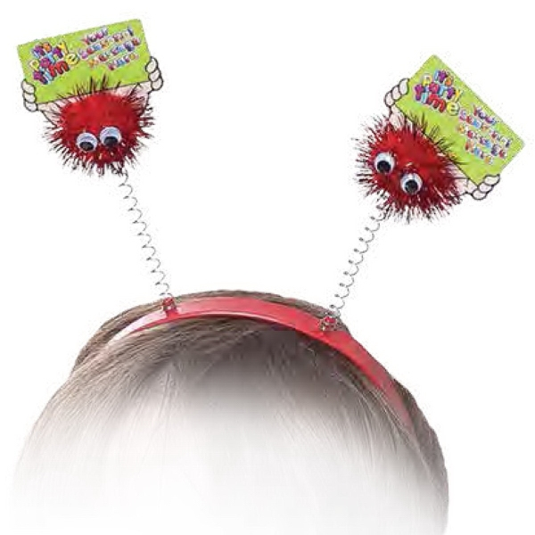 Glitter Pom Pom & Printed Card Head Bopper Weepul