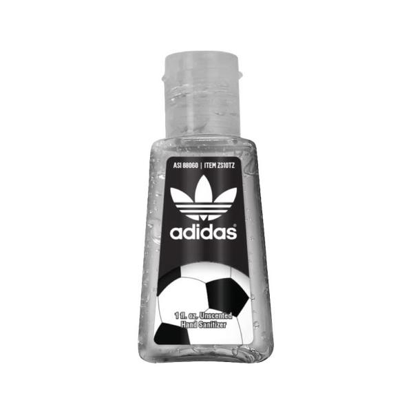 1 oz. Clear Gel Sanitizer in Trapezoid Bottle