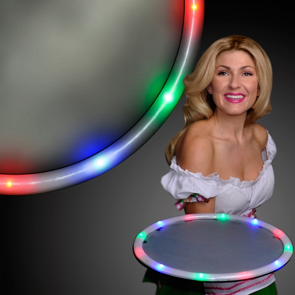 LED bar tray for waiting tables
