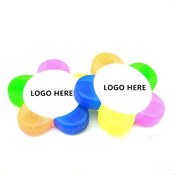 Flower shape 5 color highlighter marker