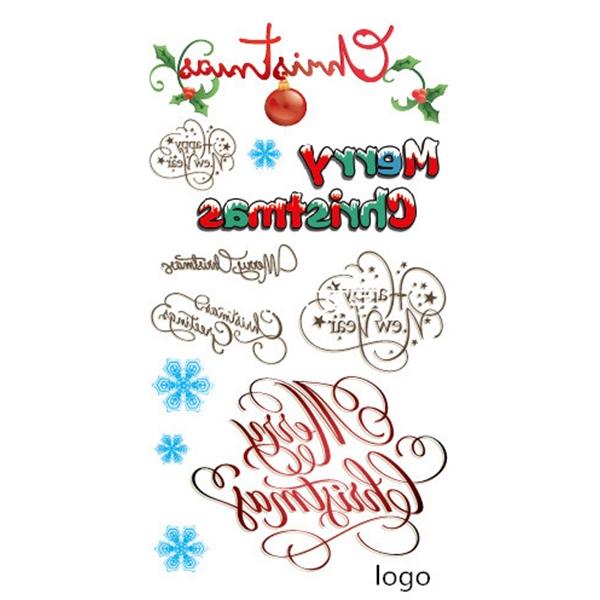 Temporary Tattoo Sticker For Christmas