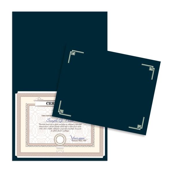 Linen Certificate Folder
