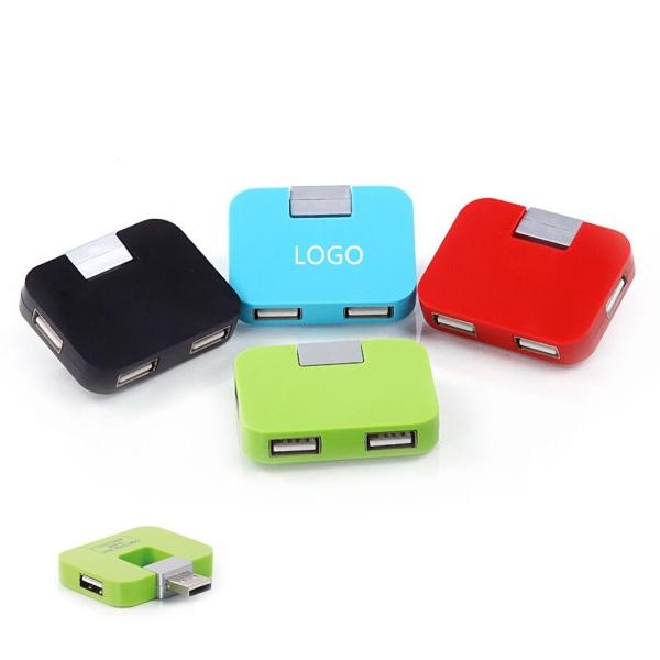 Portable 4 Port USB Hub