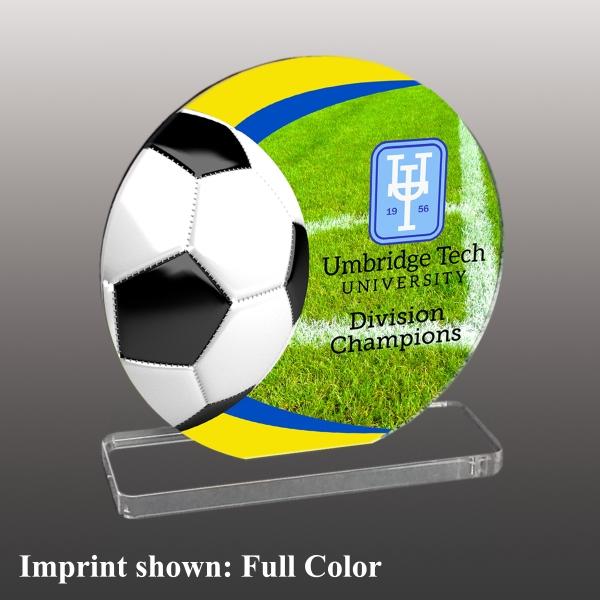Soccer Themed Acrylic Awards