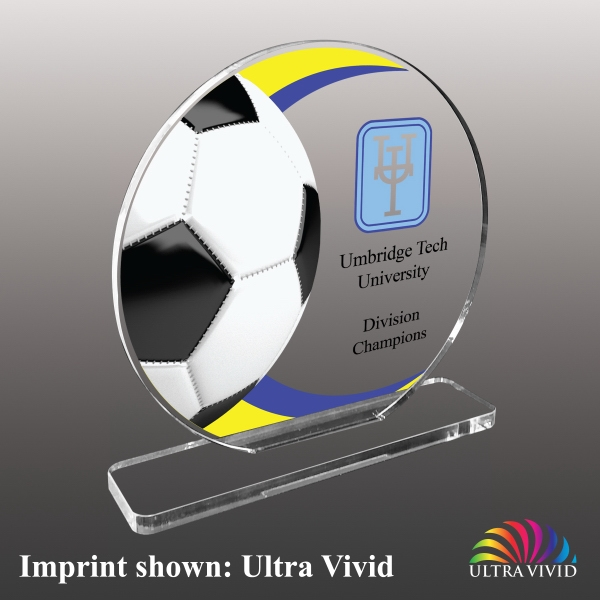 Soccer Themed Acrylic Awards