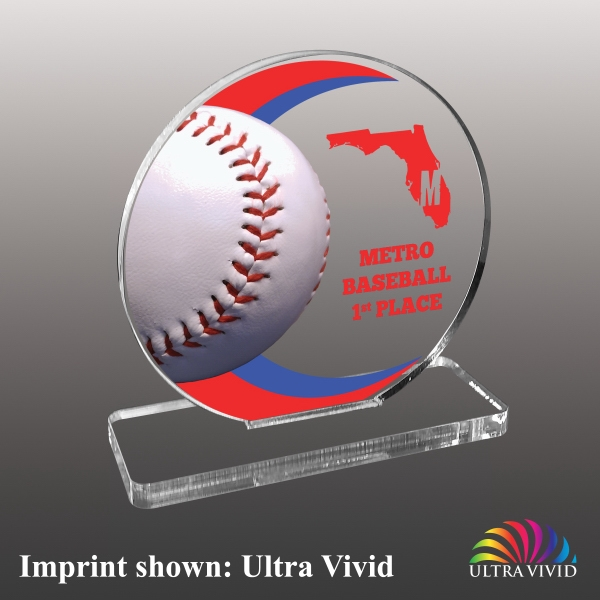 Baseball Themed Acrylic Awards