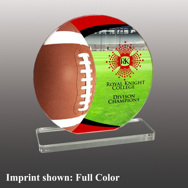 Football Themed Acrylic Awards (Small)