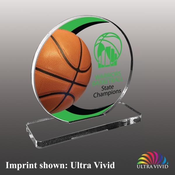 Basketball Themed Acrylic Awards