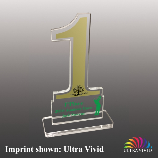 Number One Shaped Acrylic Awards