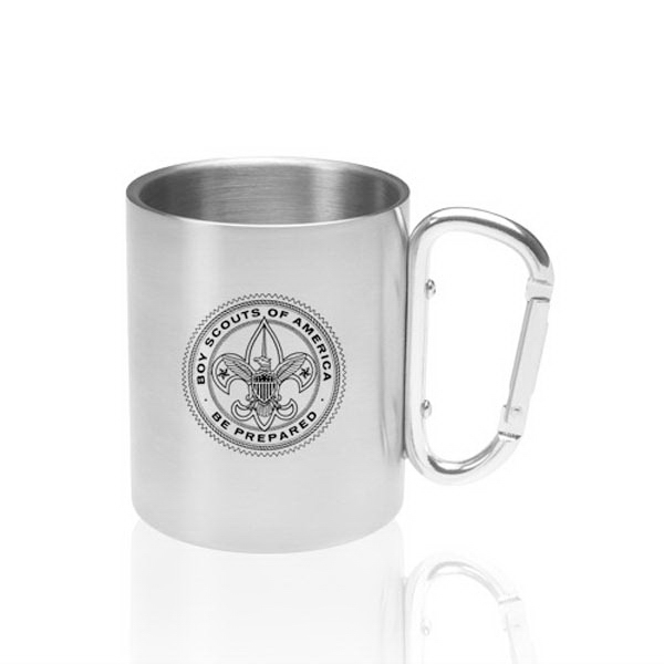 10 oz. Carabiner Handle Stainless Steel Mug
