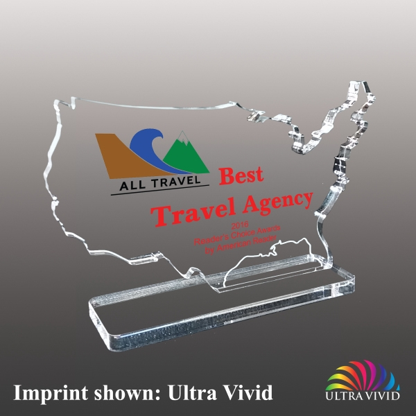 America (USA) Shaped Acrylic Awards