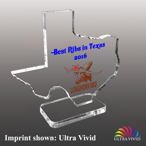 State of Texas Shaped Acrylic Awards