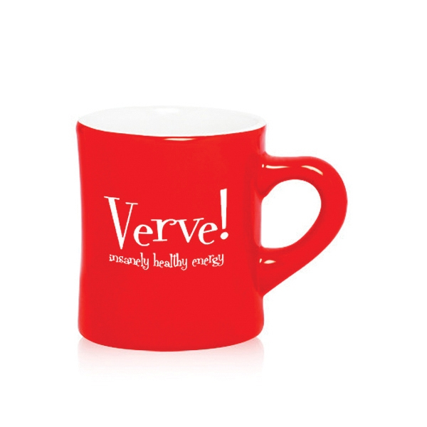 10 oz. Red Ceramic Diner Mug