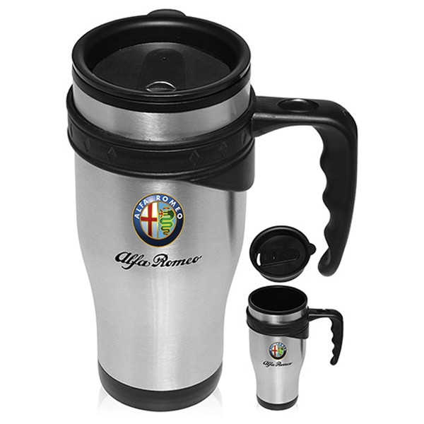 16 oz. Sporty Stainless Steel Travel Mug