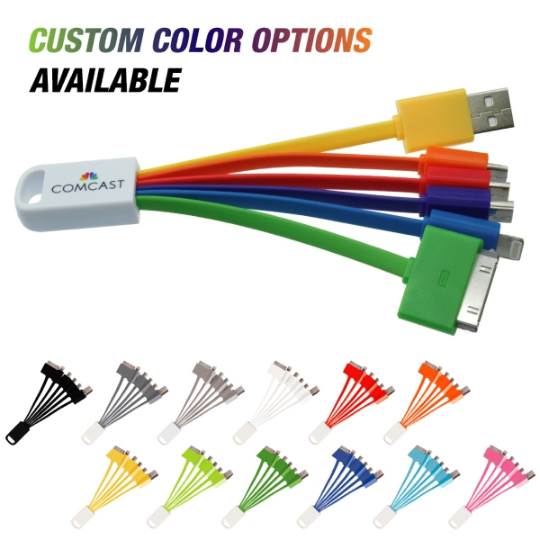 Porkpie - 6 in 1 universal USB charging cable.