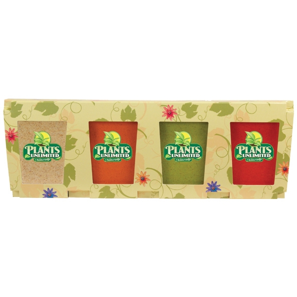 Promo Planter, 4-Pack Planter Set, Full Color Digital