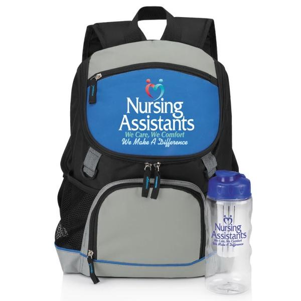 Oakdale Backpack Cooler & Fruit Infuser Water Bottle Combo
