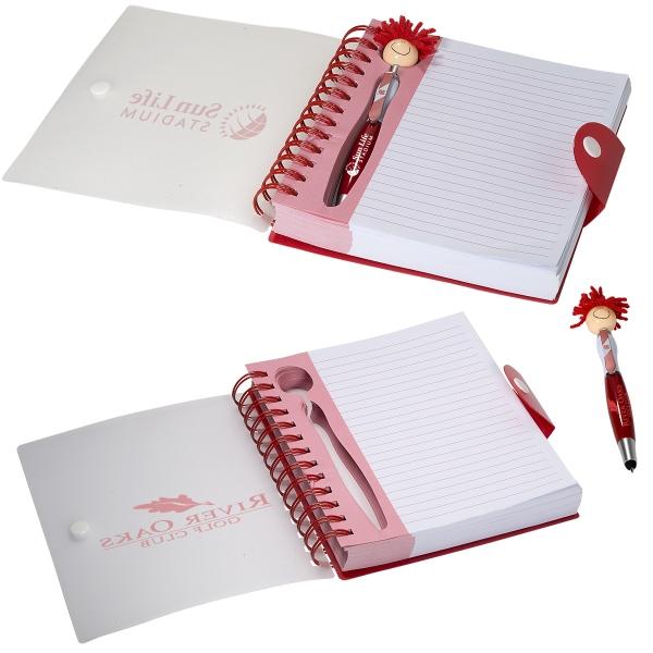 Canada Patriotic MopTopper™ Stylus Pen & Notebook Set