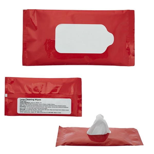 Screen & Lens Cleaner Wipes in Re-sealable Pouch