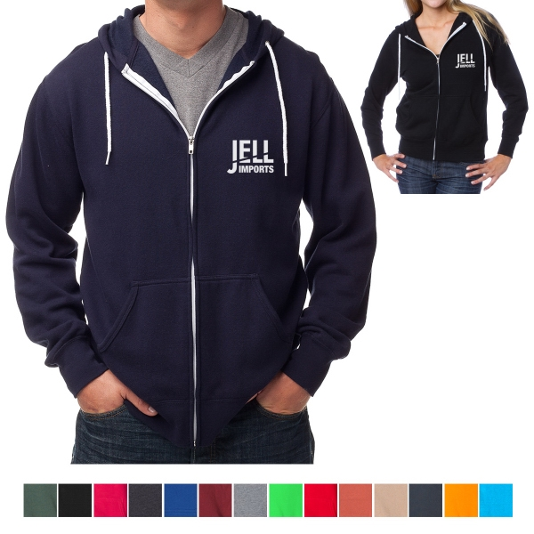 Independent Trading Company Unisex Zip Hooded Sweatshirt