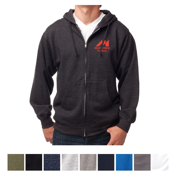 Independent Trading Company Men's Midweight Zip Hooded Sw...