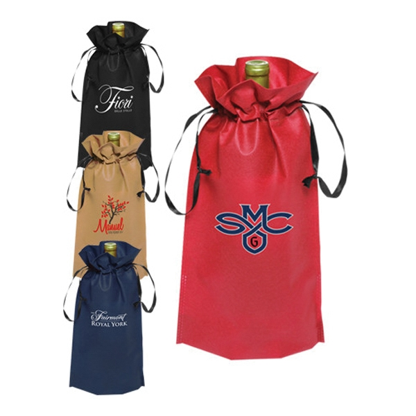 Non-Woven Vineyard Ribbon Drawstring Bags