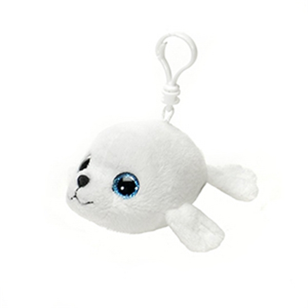 "6"" White Seal Keychain"