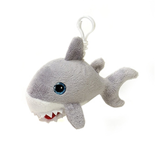 "6"" Gray Shark Keychain"
