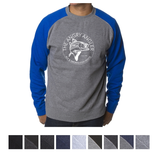 Independent Trading Company Men's Fitted Raglan Pullover ...