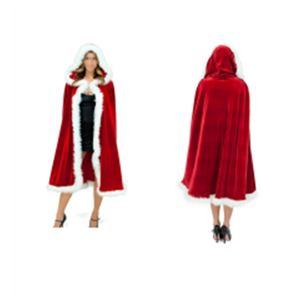Red Christmas Adult Long Cloak Cape