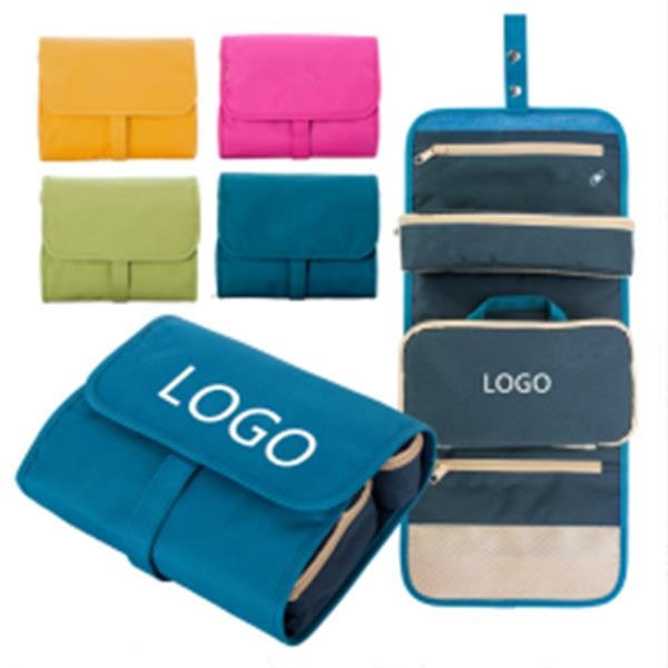 Foldable Traveling Wash and Cosmetic Bags