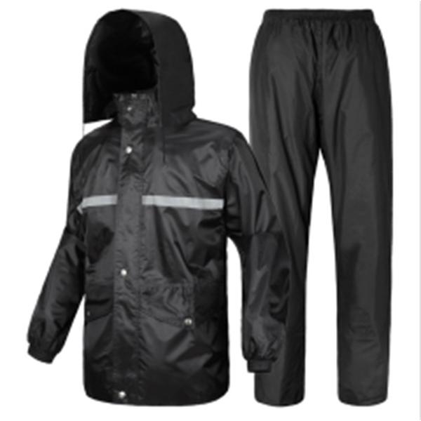 PVC Coating Waterproof Polyster Reflective Raincoat