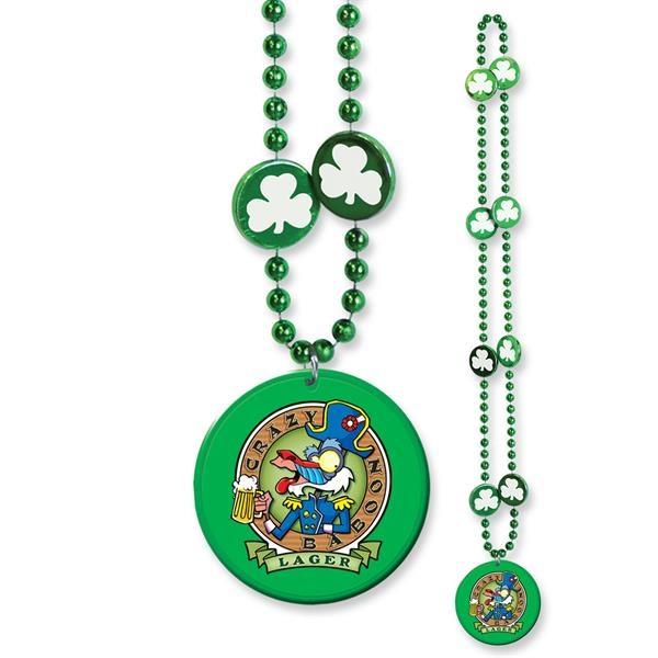 Shamrock Medallion Bead w/ Medallion w/ Custom Decal