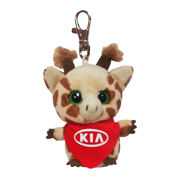 "3"" Topsee Giraffe Keychain with bandana and 1 color imprint"