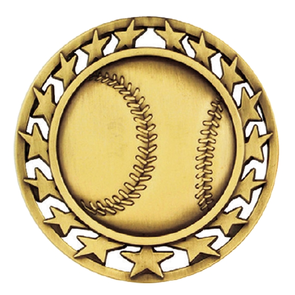 "2 1/2"" Baseball Star Medallion"
