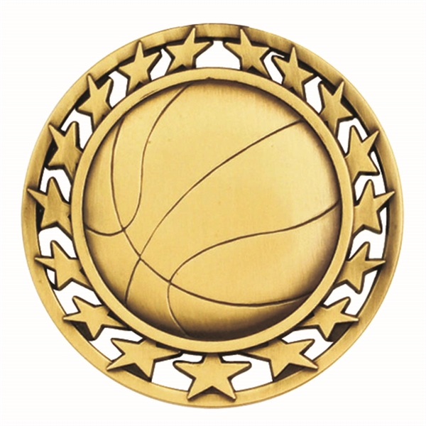 "2 1/2"" Basketball Star Medallion"