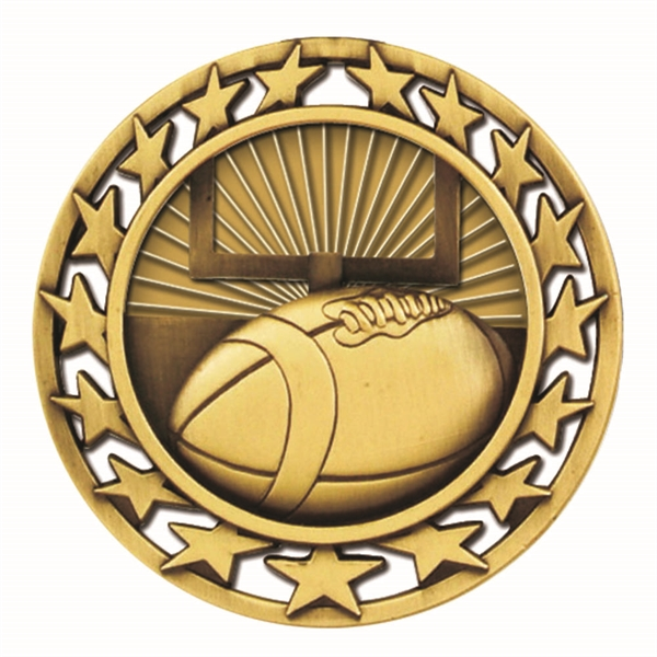 "2 1/2"" Football Star Medallion"