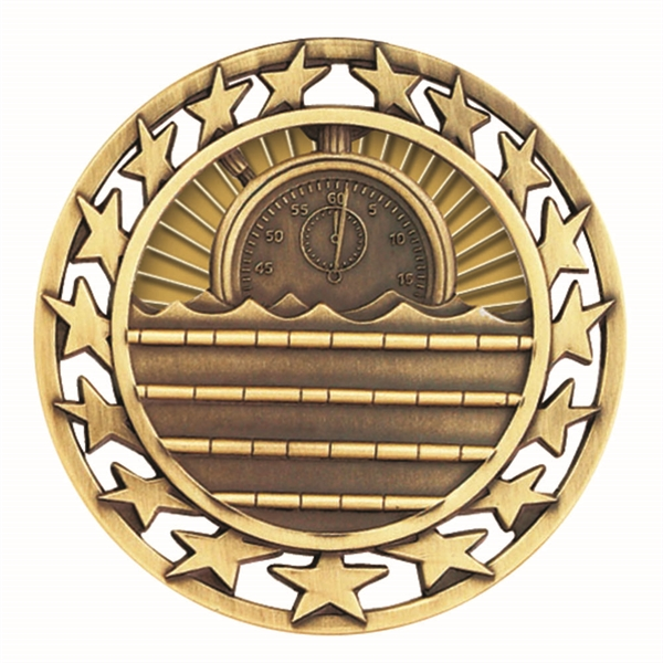 "2 1/2"" Swimming Star Medallion"